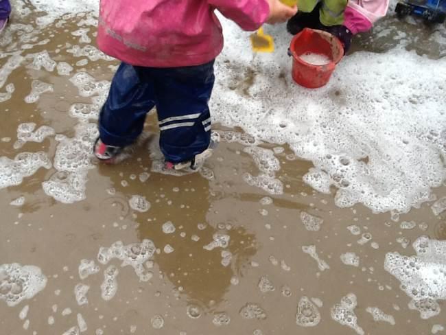 vanndammer i barnehagen